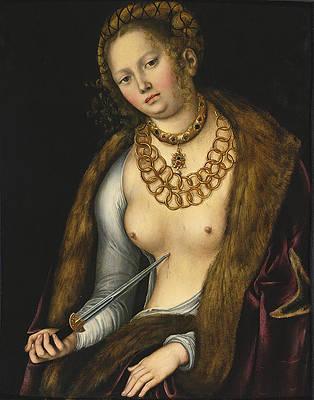 Lucretia 7 Print by Lucas Cranach the Elder