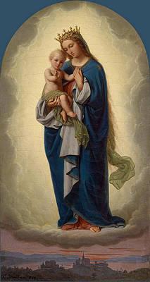 Madonna with Child Print by Franz Ittenbach