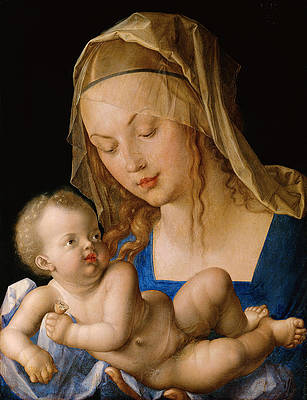 Madonna with the Pear Print by Albrecht Duerer