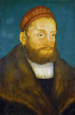 Margrave Casimir von Brandenburg-Culmbach Print by Lucas Cranach the Elder