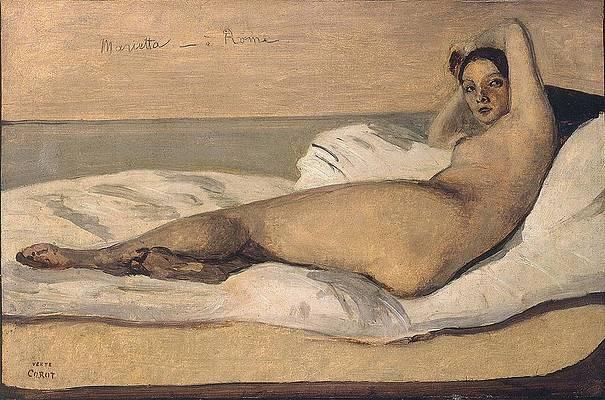 Marietta Print by Jean-Baptiste-Camille Corot