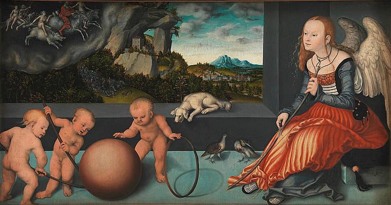 Melancholy Print by Lucas Cranach the Elder