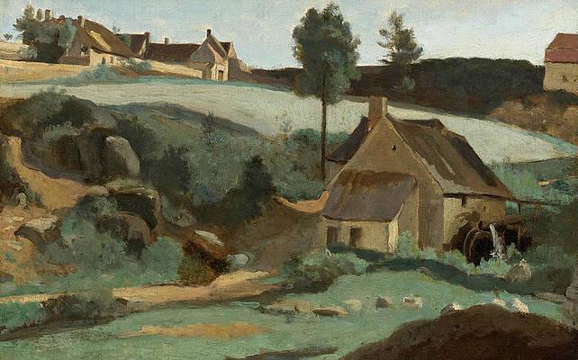 Morvan. Petit Moulin Print by Jean-Baptiste-Camille Corot