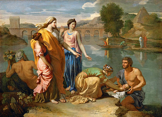 Moses Saved from the Water Print by Nicolas Poussin