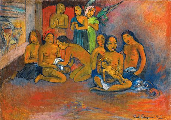 Nativity Print by Paul Gauguin