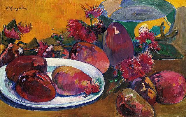 Nature morte aux Mangos Print by Paul Gauguin