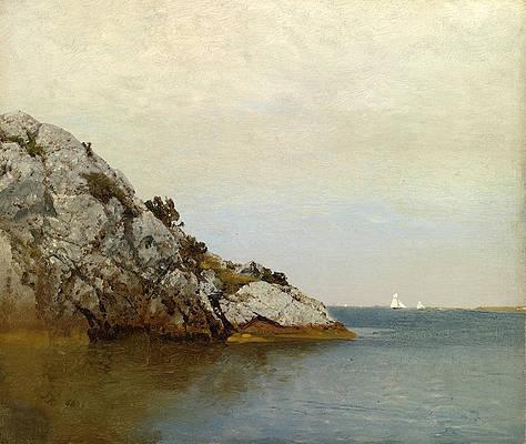 Near Newport Rhode Island Print by John Frederick Kensett