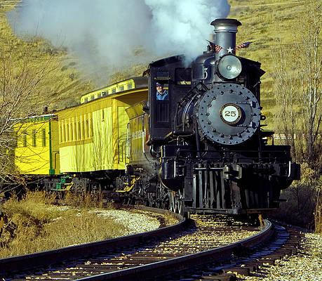 Photograph - Nevada Train by Day Williams