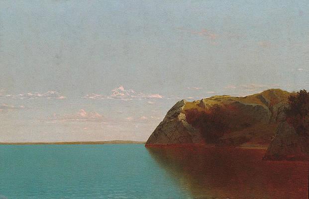 Newport Rocks Print by John Frederick Kensett