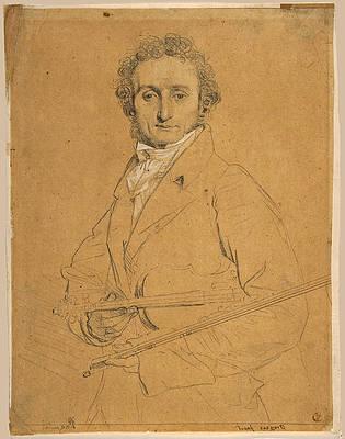 Nicolo Paganini Print by Jean-Auguste-Dominique Ingres