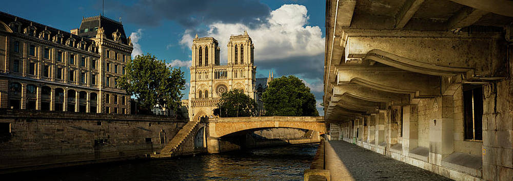 Notre Dame Cathedral Waterfront Tunnel Paris France Photograph By Sun Gallery Photography Lewis Carlyle