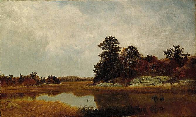 October in the Marshes Print by John Frederick Kensett