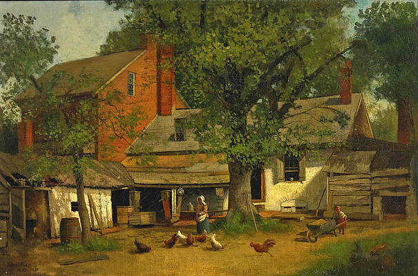 Old House at Cooper's Point. New Jersey Print by John Frederick Peto