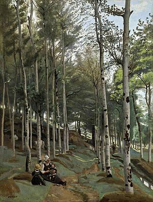 Paysage Breton Print by Jean-Baptiste-Camille Corot