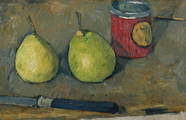 Pears and Knife Print by Paul Cezanne