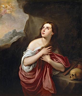 Penitent Magdalen Print by Bartolome Esteban Murillo