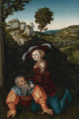 Phyllis and Aristotle Print by Lucas Cranach the Elder