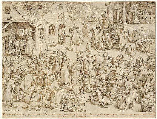 Caritas. Charity Print by Pieter Bruegel the Elder