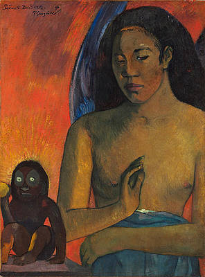 Poemes Barbares Print by Paul Gauguin
