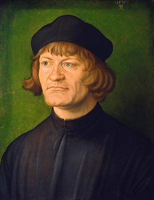 Portrait of a Clergyman Print by Albrecht Duerer