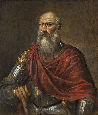 Portrait of a Venetian Admiral, possibly Francesco Duodo Print by Titian