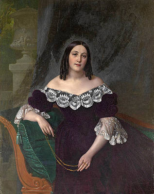 Portrait of a Woman Print by Alexei Tyranov