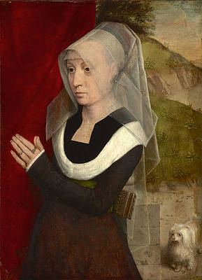 Portrait of a Woman at Prayer Print by Hans Memling
