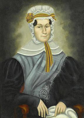 Portrait of a Woman Print by Erastus Salisbury Field