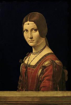 Portrait of a Woman Print by Leonardo da Vinci