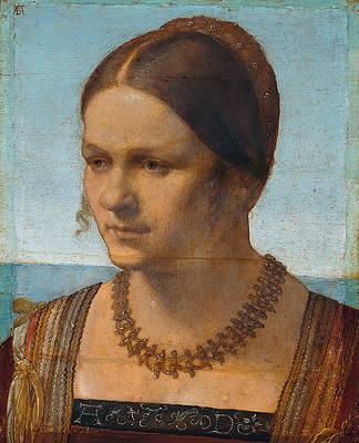 Portrait of a young Venetian Lady Print by Albrecht Duerer