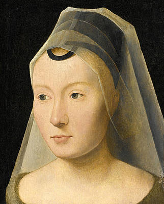 Portrait of a Young Woman Print by Attributed to Hans Memling