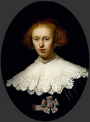 Portrait of a Young Woman Print by Rembrandt