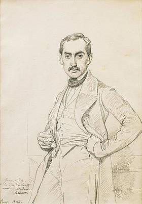 Portrait of Alphonse Hennet de Goutel Print by Jean-Auguste-Dominique Ingres