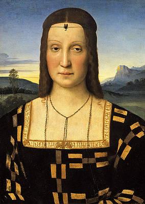 Portrait of Elisabetta Gonzaga Print by Raphael