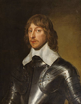 Portrait of George, Baron Goring Print by Anthony van Dyck