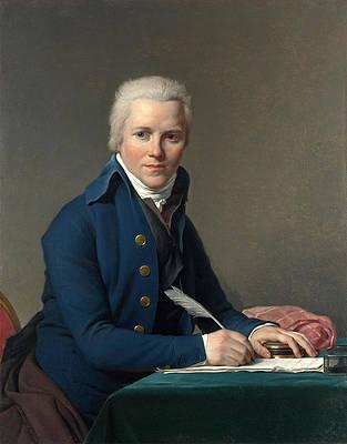 Portrait of Jacobus Blauw Print by Jacques-Louis David