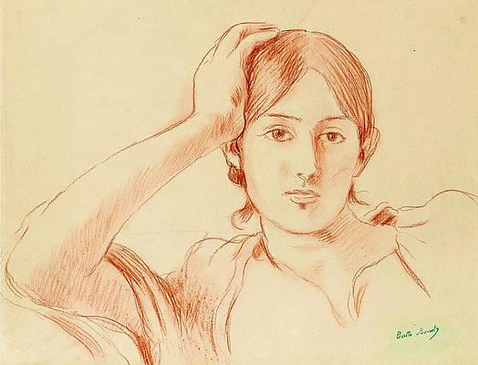 Portrait of Jeanne Pontillon Print by Berthe Morisot