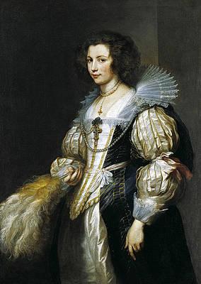 Portrait of Maria de Tassis Print by Anthony van Dyck