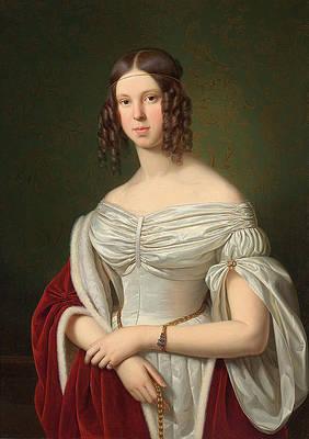 Portrait of Marie Felicitas zu Furstenberg Print by Franz Ittenbach