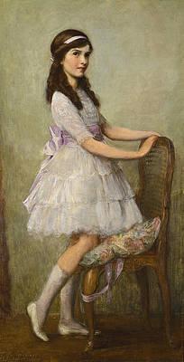 Portrait of Miss Barbara de Selincourt Print by Herbert James Draper