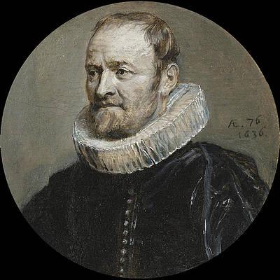 Portrait of Nicholas Rockox Print by Anthony van Dyck