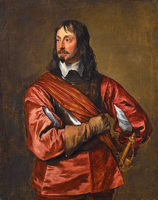 Portrait of Sir John Mennes Print by Anthony van Dyck