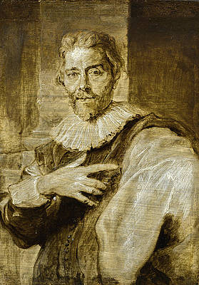 Portrait of the engraver Jean Baptiste barbe Print by Anthony van Dyck