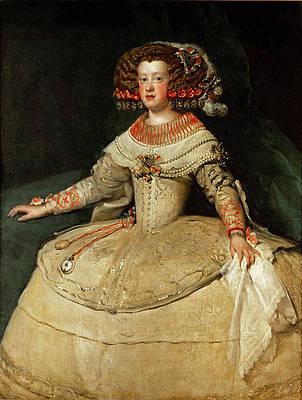 Portrait of the Infanta Maria Teresa Print by Diego Velazquez