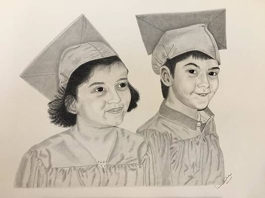 Graduation Cap Drawing - Pre-K Graduation by Scientila Duddempudi