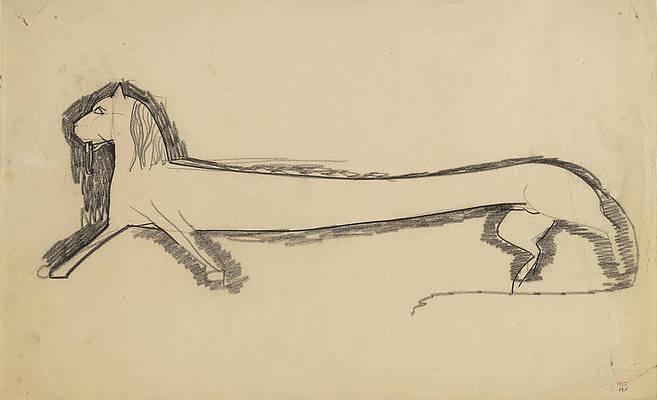 Profile of a Lion Print by Amedeo Modigliani