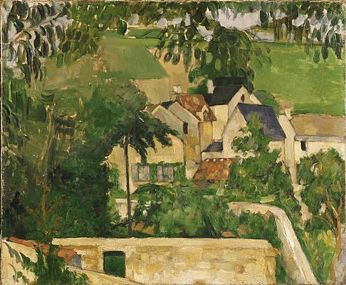 Quartier Four, Auvers-sur-Oise Print by Paul Cezanne