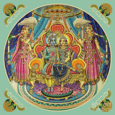 radha krishna in ashtasakhi mandir part of the original painting vrindavan das