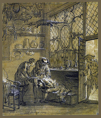Ragotin being treated with a Suction Cup Print by Jean-Baptiste Oudry