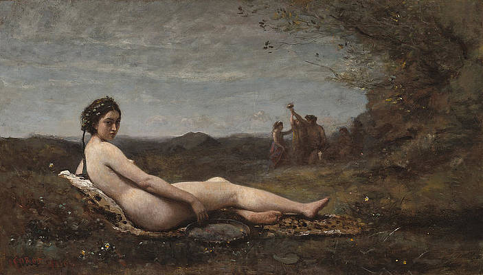 Repose Print by Jean-Baptiste-Camille Corot